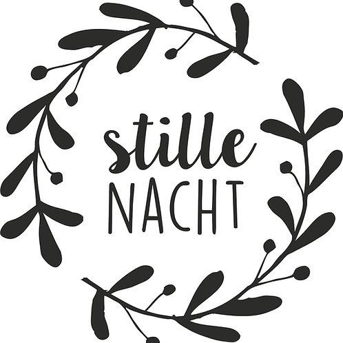 """Holz Stempel """"stille Nacht""""  3.2cm ø"""