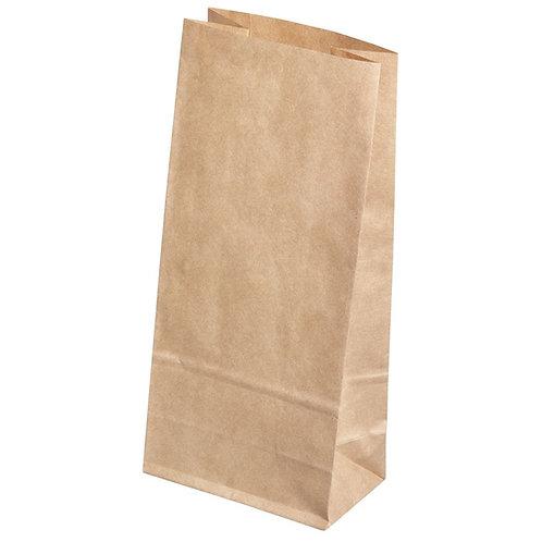 Papiertüte braun, Lebensmittelecht 11x6x22,5cm, SB-Btl 6Stück