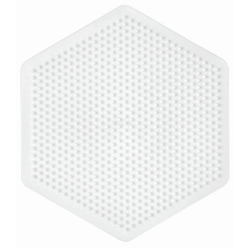 Midi Stiftplatte weiss - Grosses Sechseck (721 Stifte) 16.5x14.5cm