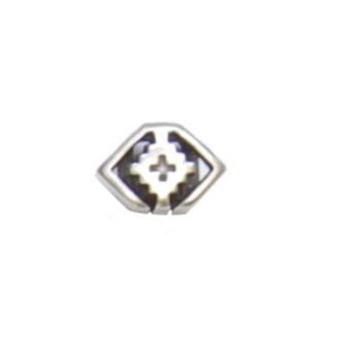Metallzwischenteil 12x8mm platin antikfarben, für Band 5mm