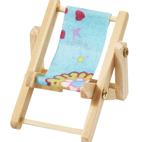 Liegestuhl mini Strandparty blau 5x3.5cm
