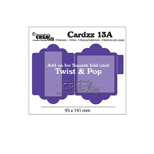 Crealies  Cardzz Stanzschablone no.13A Twist & Pop