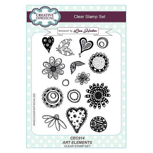 Creative Expressions, Art elements A5 clear stamp set