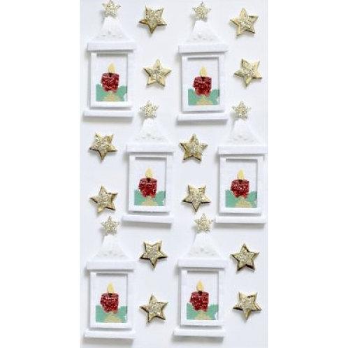 Artwork Sticker Weihnachtslaterne 120x65mm