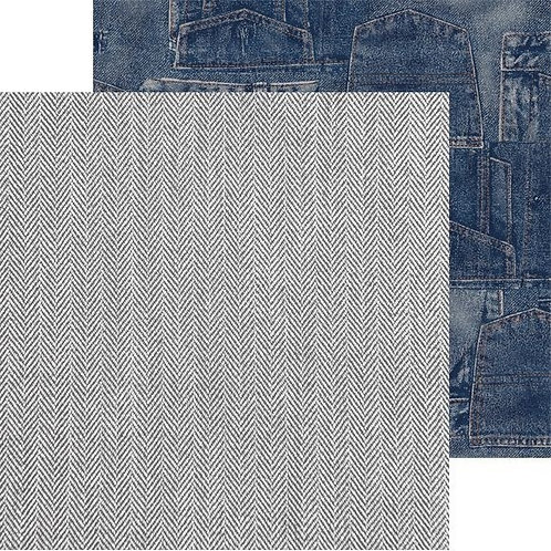 Kaisercraft paper 30,5x30,5cm Mountain air blue jeans