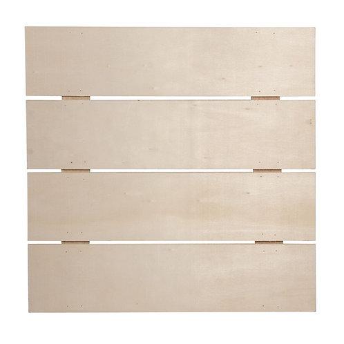 Holz Lattenrahmen, FSC Mix Credit 28,6x28,6x0,7cm, Tiefe:1,1cm, +2 Haken