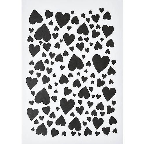Schablone DIN A5, Herzen