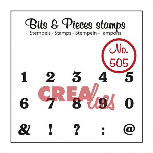 Crealies Bits & Pieces Stempeln no.505 Zahlen
