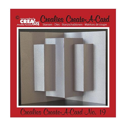 Crealies Create A Card Stanzschablone No.19 Karte kreieren