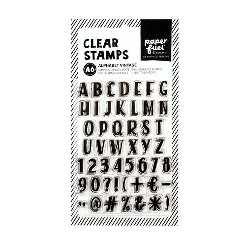 Paperfuel, Clear stamp A6 alphabet vintage