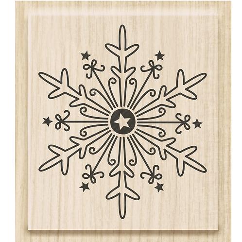 """Holz Stempel Weihnachten """"Eiskristall gross"""" Motivgrösse 3.9x4.5cm"""