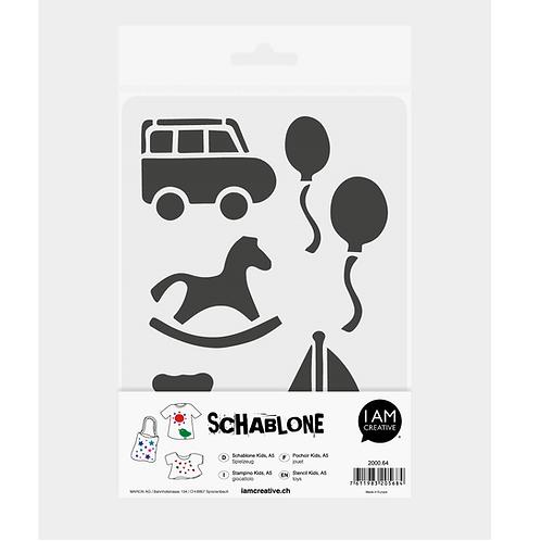 Schablone Kids DIN A5, Spielzeug