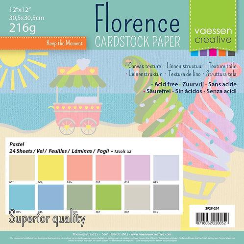 Florence Cardstock multipack 30,5x30,5cm Pastell 24Blatt
