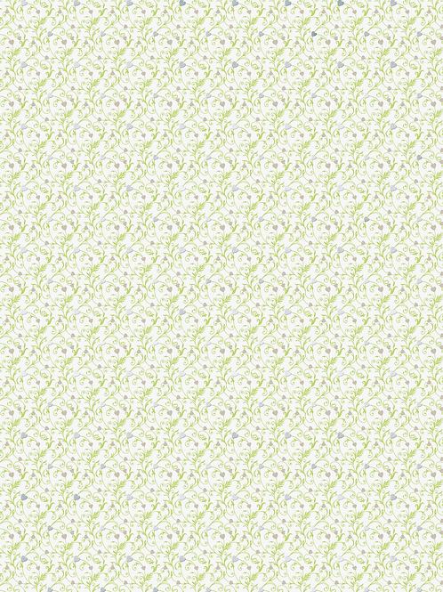 """Motivkarton Just Married """"Ornament"""" A4 (21 x 31 cm inkl. Codierleiste) grün"""