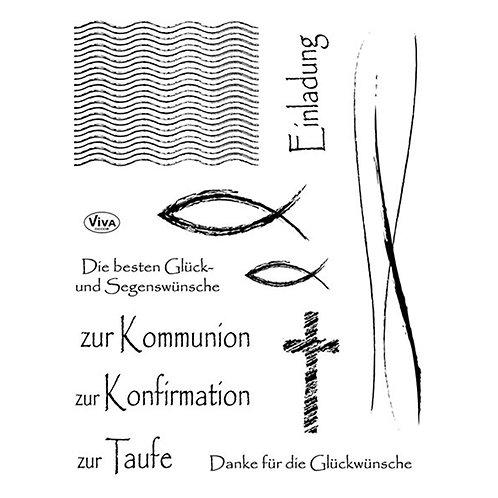 Silikon Stempel Christliche Feste 14 x 18 cm