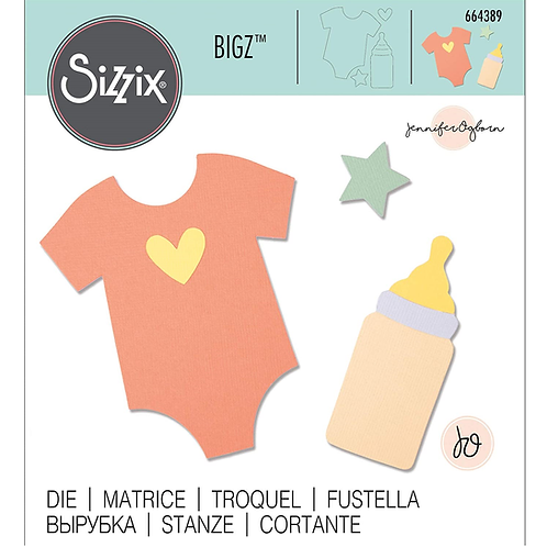 Sizzix Bigz Babybody und Babyflasche