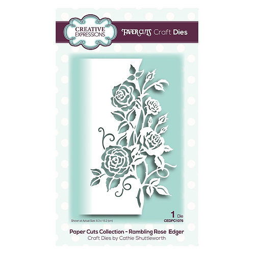 Creative Expressions, Paper cuts rambling rose edger die