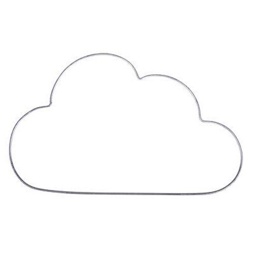 Draht Wolke platin, 30 x 17.5 cm