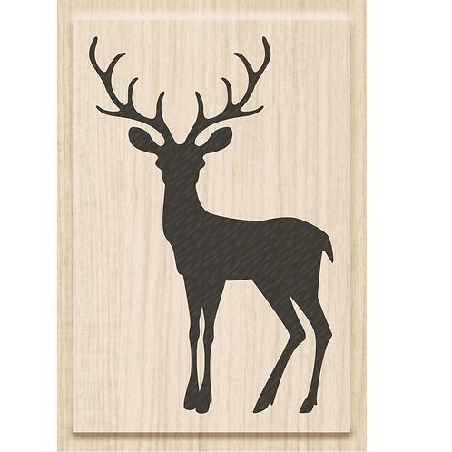 """Holz Stempel Weihnachten """"Christmas Deer"""" Motivgrösse 4.5x7cm"""