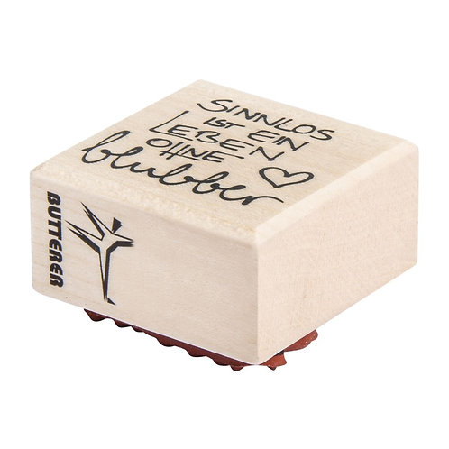 Holz Stempel Sinnlos ist ein Leben ohne..., 4x4cm