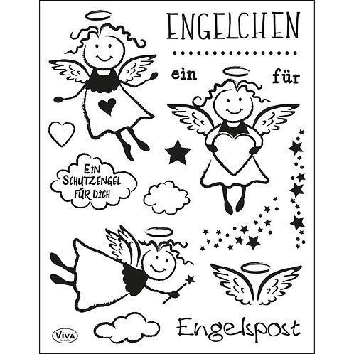 Silikon Stempel Engelchen 14 x 18 cm