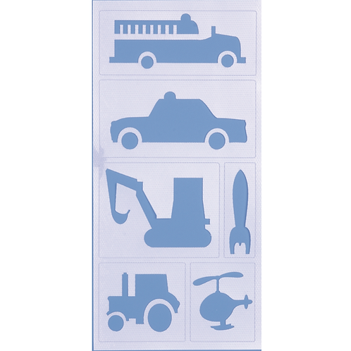 Malschablone haftend Fahrzeuge 20x10cm