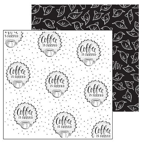 Paperfuel Scrapbook papier 30,5x30,5cm 200g Coffee