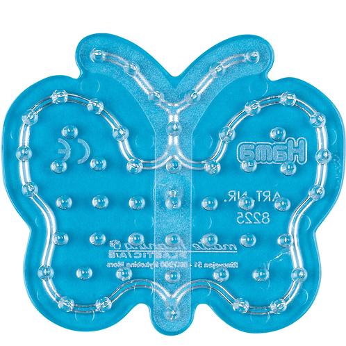 Maxi Stiftplatte transparent - Kleiner Schmetterling (54 Stifte) 8.5x9.5cm
