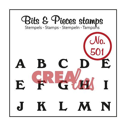 Crealies Bits & Pieces Stempel no.501 A - N