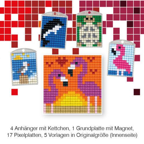 Pixel Bastelset 17 (4 Medaillons + 1 Grundplatte)