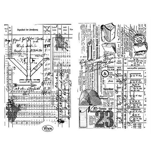 Silikon Stempel Skizzen 14 x 18 cm