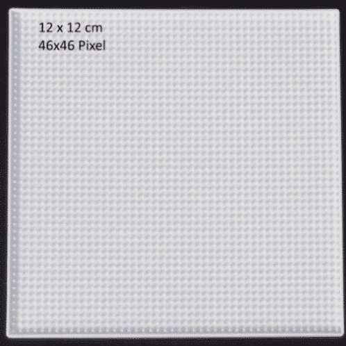 Grundplatte Quadrat gross  12x12cm  transparent