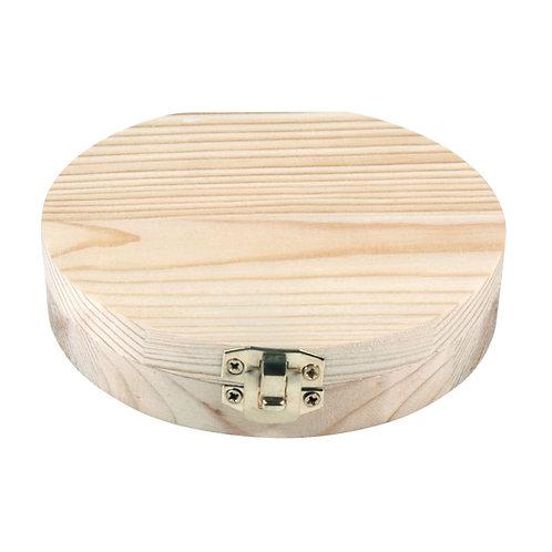 Holzbox für Milchzähne FSC100%, 12cm ø 2,7cm, natur