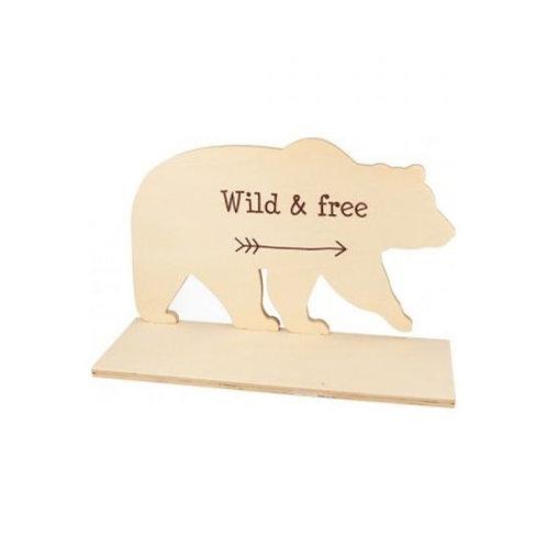 Holzregal Wild & Frei 29.5x10x18.5cm natur