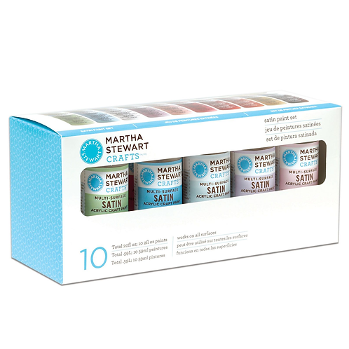 Martha Stewart  Acrylfarbe, Multi-Surface, Satin, 59 ml (Set 10 Stück)