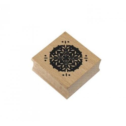 Stempel Ornament, 40x40xH19mm, Buche