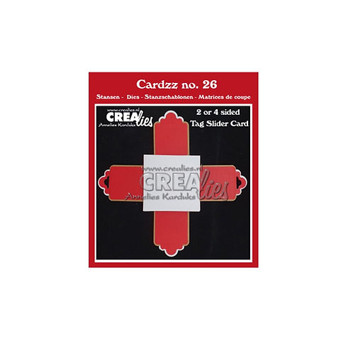 Crealies  Cardzz  Stanzschablone No. 26, 2- oder 4seitige  Schieberkarte