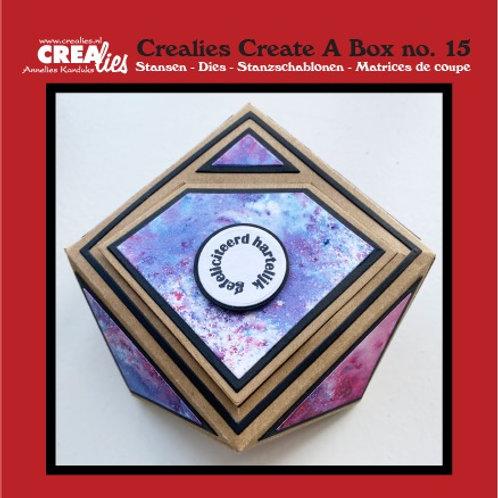 Crealies Create A Box Stanzschablone no. 15 Edelsteinbox