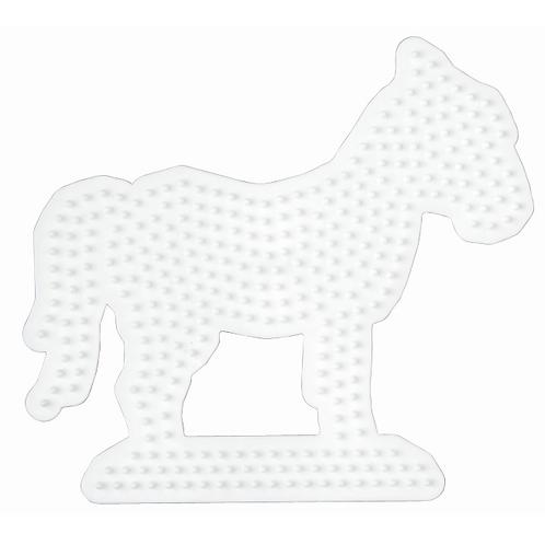 Midi Stiftplatte weiss - Pferd (334 Stifte) 13.5x14.5cm