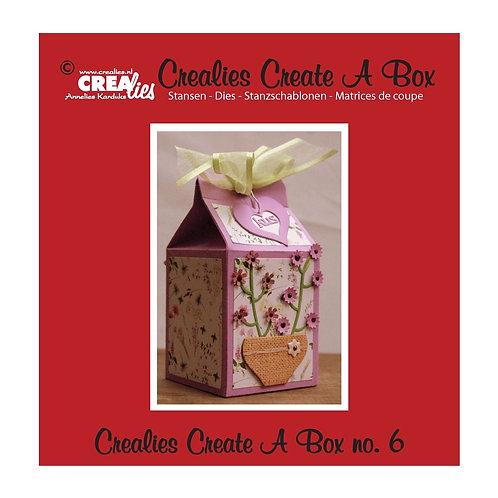 Crealies Stanzschablone No.6 Box Milchpackung