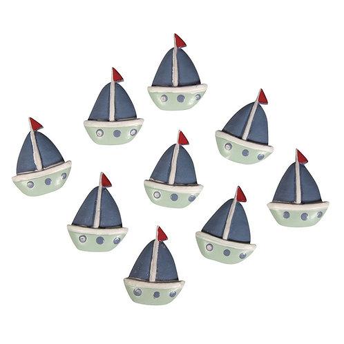 Polyresin Boote 2,8x2,2cm, SB-Btl 9Stück
