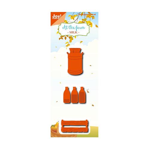 Joy!Crafts  Stanzschablone Milchkanne, Milchflaschen, Kiste