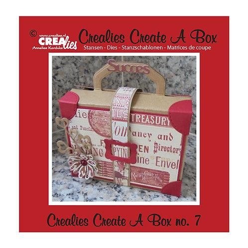 Crealies Stanzschablone No.7 Box Koffer
