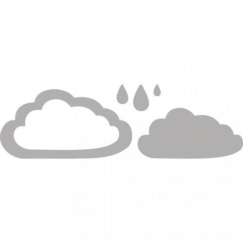 Stanzschablone Set Wolken und Tropfen