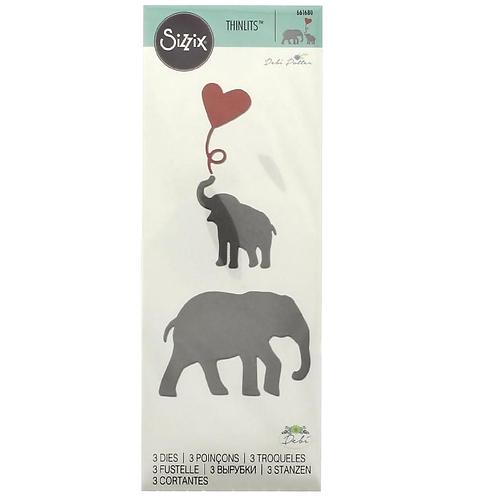 Sizzix Thinlits Elefant mit Baby