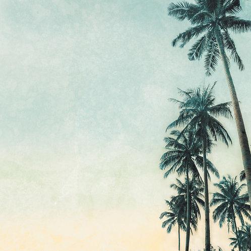 Kaisercraft paper 30,5x30,5cm Paradise found palm trees
