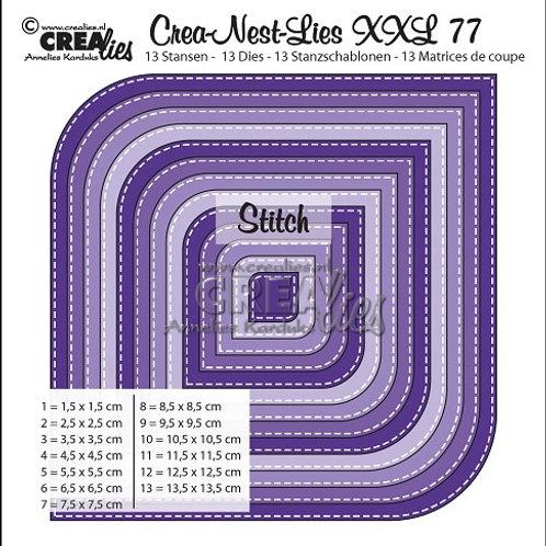 Crealies Crea-Nest-Lies XXL Stanzschablone No.77 Stich