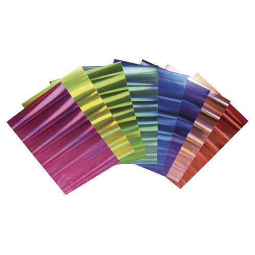 Effektpapier Hologramm Mix, A4 250g/m2, 8 Farben, 8Blatt, bunt