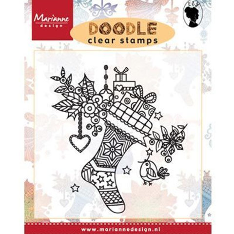 Marianne Design Clear Stamps Doodle Stocking