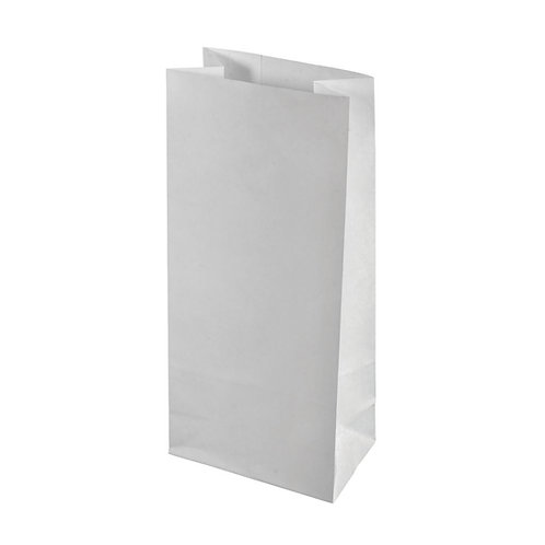 Papier-Blockbodenbeutel 10x24x5,7cm, SB-Btl 20Stück, weiß